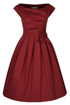 Lindy Bop Women's 'Lucille' Classy 50's Vintage Style Pleated Rock N Roll Party Dress at Amazon Women's Clothing store: Rockabilly Dress