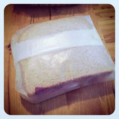 Sandwiches wrapped in wax paper - this is the way we did it