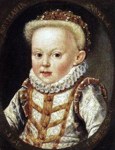 1577 Archduchess Catherine Renata of Austria (1576-1599) (or Catherine Renea) of Inner Austria