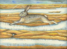 Marsh Hare (print)
