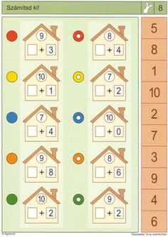 Gyere mesélj! - Képgaléria - Sulis feladat lapok (alsó tagozat) - Matek 10-es számkör Fun Math Activities, Math Games, 1st Grade Math, Kindergarten Math, Mental Maths Worksheets, Eureka Math, Preschool Lesson Plans, Montessori Toddler, Fall Crafts For Kids
