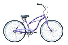 Women's Urban Lady 3 Speed Beach Cruiser Bike Color: Purple on Sale