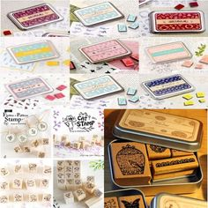 (24 Different Styles) DIY Scrapbooking Angel Stamps Set Vintage Wooden Box Rubber Craft Ink Pad Alphabet Stamp