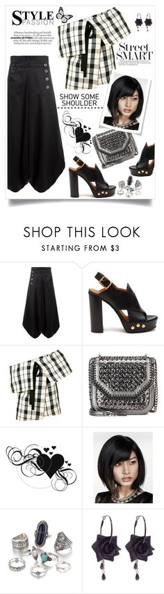 """""""Street style"""" by hani-bgd ❤ liked on Polyvore featuring Chloé, Rosie Assoulin, STELLA McCARTNEY, StreetStyle and showsomeshoulder"""