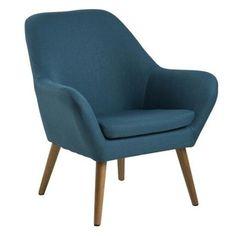 Elegant Home Fashions Divan Casual Teal Blue Accent Chair