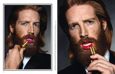 Lip Service with model Johnny Harrington. I find this freaking beautiful.