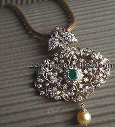 Diamond Pendant for Cocktail Parties - Jewellery Designs Pendant Set, Diamond Pendant, Diamond Jewelry, Diamond Necklaces, Gold Jewellery, Diamond Mangalsutra, Bold Necklace, Pearl Diamond, Temple Jewellery