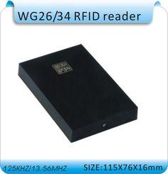 2014 newest RFID WG26/WG34 125KHZ access control reader. DC-12V WG26 reader
