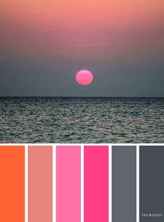 Grey Pink and orange color scheme,wedding color inspiration #color #colours #wedding #inspiration
