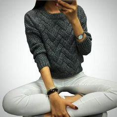7a9a1c093a 2016 Women Casual Sweater Plaid Female Pullover O-neck Spring and Autumn  Computer Knitted sweaters and pullovers pattern pull