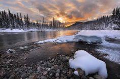 Unforgettable sunrise by Victor Liu Banff National Park, National Parks, Lone Tree, Reflection Photography, That Way, Beautiful World, Sunrise, Scenery, Waves