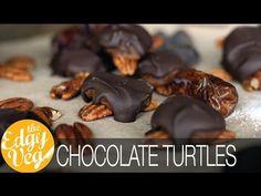 Chocolate Covered Turtles Recipe VEGAN   The Edgy Veg
