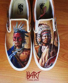 Zapatos pintados personalizados por HartCustomShoes en Etsy, $200.00