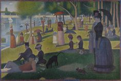 It looks like a warm portrait of a sunny day in a lovely park. But a closer look reveals much more.  15 Things You Might Not Know About 'A Sunday Afternoon on the Island of La Grande Jatte' | Mental Floss