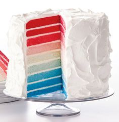 Make This Epic Ombre Cake at Your Next Fourth of July Bash from InStyle.com