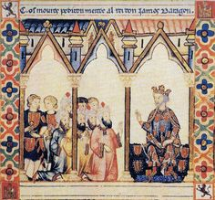 The Moors request permission from James I of Aragón.