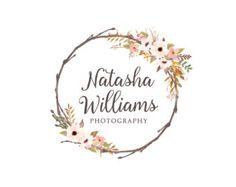 Bohemian Flowers Logo Design Bright Flowers by SacredWilde
