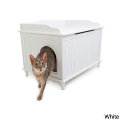 Must remember to get this in the future...  Designer Catbox Litter Box Enclosure   Overstock.com