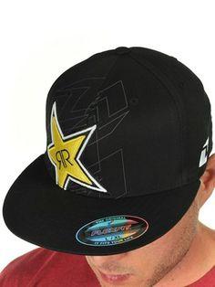 45e50081578c9b hot one industries black rockstar shards flat peak flexfit cap fbf95 31490