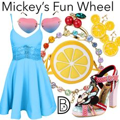 Mickey's Fun Wheel Disney Character Outfits, Disney Inspired Outfits, Disney Outfits, Disney Style, Disney Fashion, Tigger And Pooh, Disney Artwork, Disney Dolls, Disney Dresses