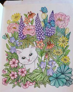 # MariaTrolle # blomstermandala # colored pencils.