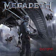 """L'album dei #Megadeth intitolato """"Dystopia"""" su vinile nero."""