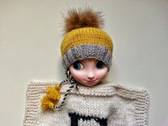 Hand knitted doll blanket for kids for fun D is by YellowYarnyYak Knitted Dolls, Hand Knitting, Two By Two, Crochet Hats, Fur, Trending Outfits, Blanket, Unique Jewelry, Handmade Gifts