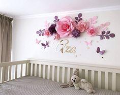 Scuola materna carta fiori - fiori di carta sopra la culla - Baby Girl camera fiori di carta - Baby Room Wall Decor (codice: 112)