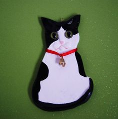 Gorgeous airdry clay Christmas holidays black by albertinebelle, £2.90