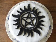 Supernatural Cake - this cake wont be getting possessed any time soon!