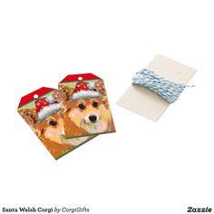 Santa Welsh Corgi Gift Tags
