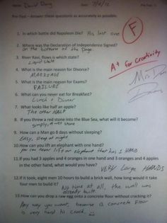 This kid is definitely going to land a job after school ;) lol