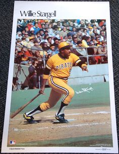 Rare WILLIE STARGELL 1978 Pittsburgh Pirates Marketcom Sports Illustrated Poster - Sold for $101.00 October 2013