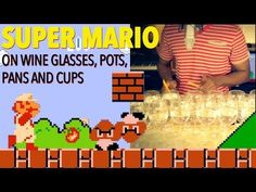 Super Mario Bros Theme Song on Wine Glasses and a Frying Pan (슈퍼 마리오 브라더스 - スーパーマリオブラザーズ - 超級瑪莉)