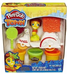 NEW Play Doh Town Pizza Delivery Kit-Ages 3 playdoh modeling clay