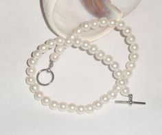 Pearl anklet dainty sexy jewelry by EnchantedRoseProduct on Etsy