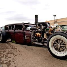 Happy Friday. Duramax diesel rat rod.