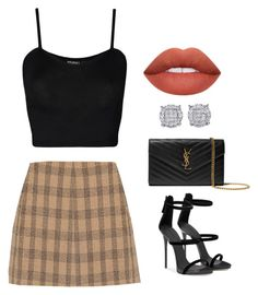 """""""daaaaate"""" by moonphxse on Polyvore featuring WearAll and Yves Saint Laurent"""