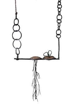 Lorena Lazard Pendant: De la Tierra, 2015 Iron, polymer clay, powder coating, thread, soil from the artist garden 13 x 8 x 2 cm Photo by: Paolo Gori © By the author. Read Klimt02.net Copyright.