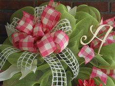 geo front Door Wreaths | If making bows just isn't your bag…..we do have an item that will ...