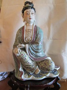 Tall Chinese Famille Rose Porcelain Lady by Ritzco on Etsy, $400.00