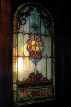 This stained glass window isn't inside a church. It is located inside a restaurant, and the divine light shining through 'this' stained glass window signifies the best champagne brunch. Stained Glass Designs, Stained Glass Panels, Stained Glass Projects, Leaded Glass, Beveled Glass, Stained Glass Art, Mosaic Art, Mosaic Glass, Fused Glass