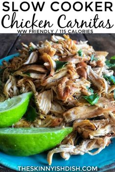 * Looking for a more healthy taco or burrito? Try out this recipe for simple and authentic flavors Great Super Slow Cooker Chicken Carn. Healthy Slow Cooker, Slow Cooker Recipes, Crockpot Recipes, Chicken Recipes, Cooking Recipes, Healthy Recipes, Slow Cooker Chicken Tacos, Slow Cooked Chicken, Stuffed Peppers