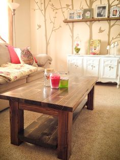 A solid wood table warms up a room by using a style that embraces natures character rather than hiding it. The grain pattern from the carefully selected wood along with the hours of crafting love make a table like this impossible to find in a big box store. Feel free to customize the table