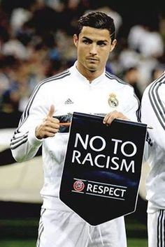 CR7 says No to racism #RESPECT #HalaMadride bestie the honest and true one love CR7 from heart