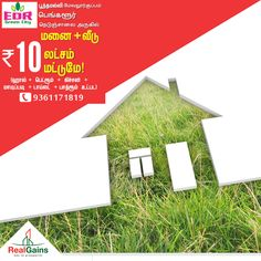 Make your dreams of owning a house come true with Real Gains Property Developers  Plot + 1 BHK House at just Rs.10Lakhs.  EDR Green City- DTCP approved plots  Near Poonamalle, Mevalurkuppam, Bangalore highway.  Call Today : 9364171819 | 9361171819  #EDRGreenCity #ResidentialPlot #Poonamallee #Mevalurkuppam  #RealGainsPropertyDevelopers #RealGains