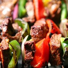Kabob Marinade  1 cup vegetable oil   3/4 cup soy sauce   1/2 cup lemon juice   1/4 cup Worcestershire sauce   1/4 cup prepared mustard   1 1/2 teaspoons coarsely cracked black pepper   2 cloves garlic, minced   1 teaspoon meat tenderizer (optional)  Combine all ingredients in Lg. Resealable bag & mix well. Add your favorite meat. Seal the bag & marinate in the refrigerator for 4 to 24 hours.