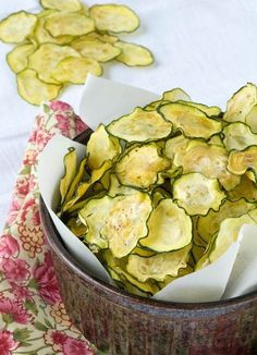 BBQ chips are great and all, but ultra-thin salt and vinegar chips are my jam. They're so salty, so sour, and so crunchy. Instead of using potatoes, this summer chip recipe uses seasonal zucchini to carry that awesome combo. Care to try it out?