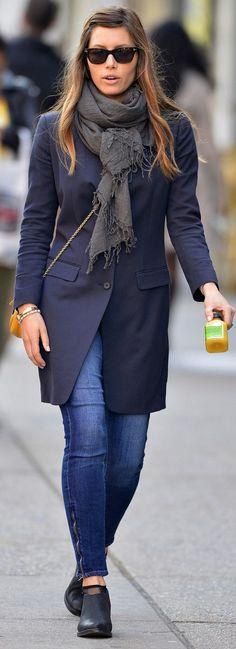 Jessica Biel street style.