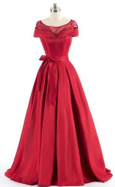 Red shoulder evening dress, luxury evening gowns,sexy prom dress, custom made Cute Dresses For Party, Party Dress, Custom Made Prom Dress, Evening Dresses, Prom Dresses, Formal Gowns, The Dress, Dress Red, Beautiful Dresses
